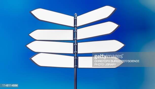 signpost, illustration - road stock illustrations