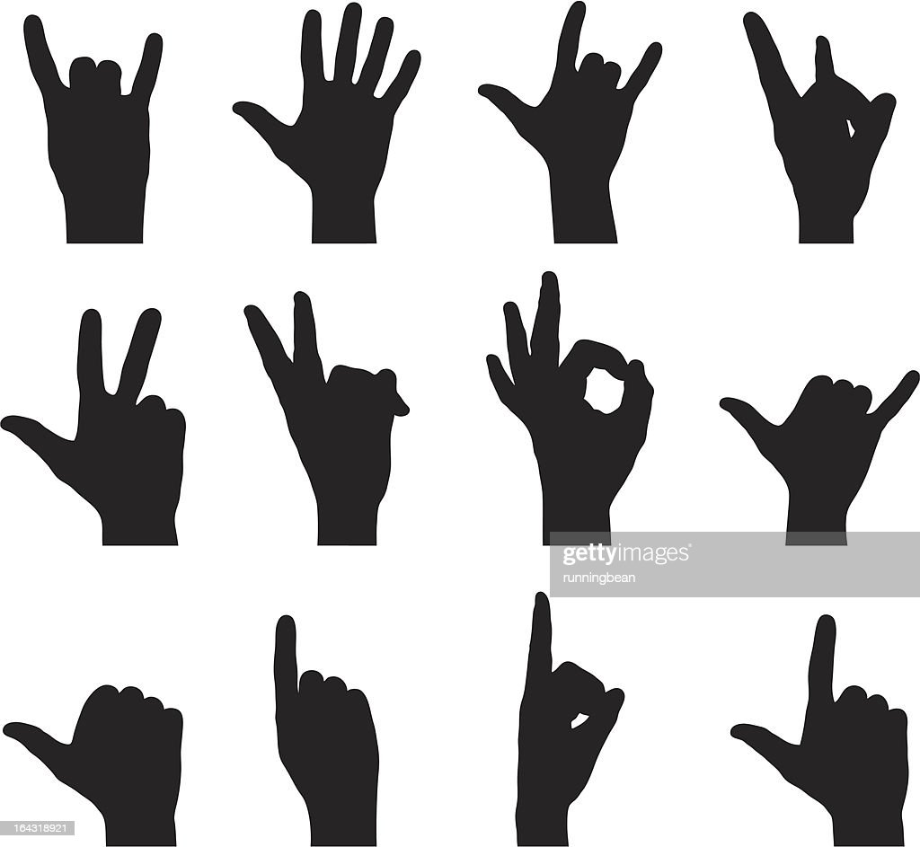 Silhouette Hand Signs