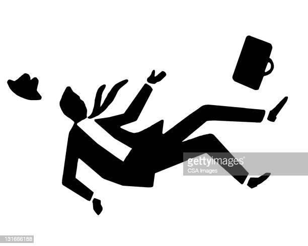 Silhouette Man Falling