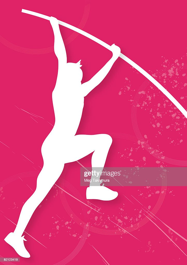 vault gymnastics silhouette. Interesting Silhouette Silhouette Of A Man Pole Vaulting  Stock Illustration Throughout Vault Gymnastics M