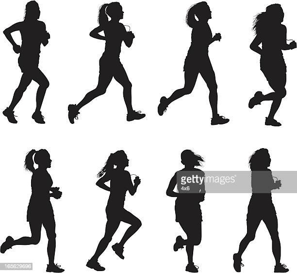 Silhouette Of Female Athlete Running