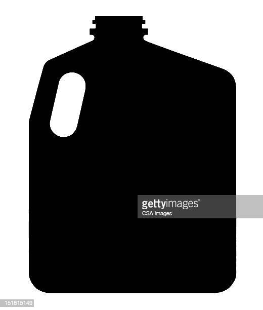 silhouette of gallon container - jug stock illustrations, clip art, cartoons, & icons