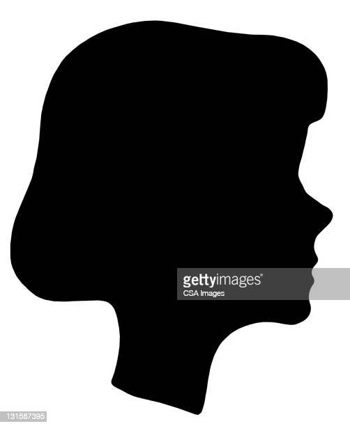 Silhouette of Girl's Head