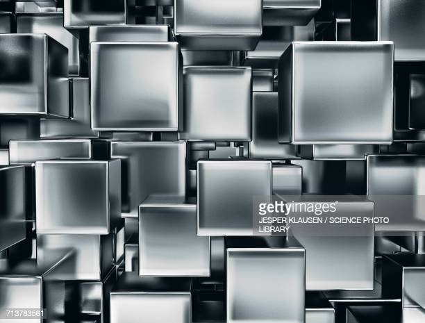 silver cubes - 銀色点のイラスト素材/クリップアート素材/マンガ素材/アイコン素材