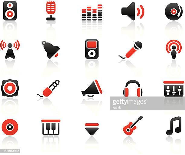 simpico - music - podcasting stock illustrations, clip art, cartoons, & icons