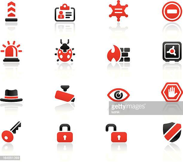 simpico - security - malfarbe stock illustrations