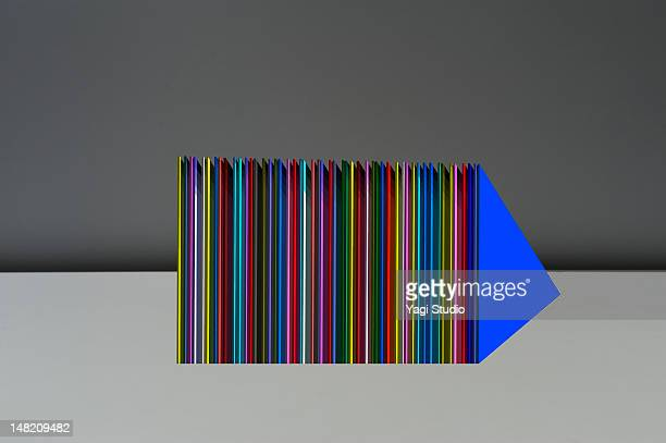 Simple composition with colorful object
