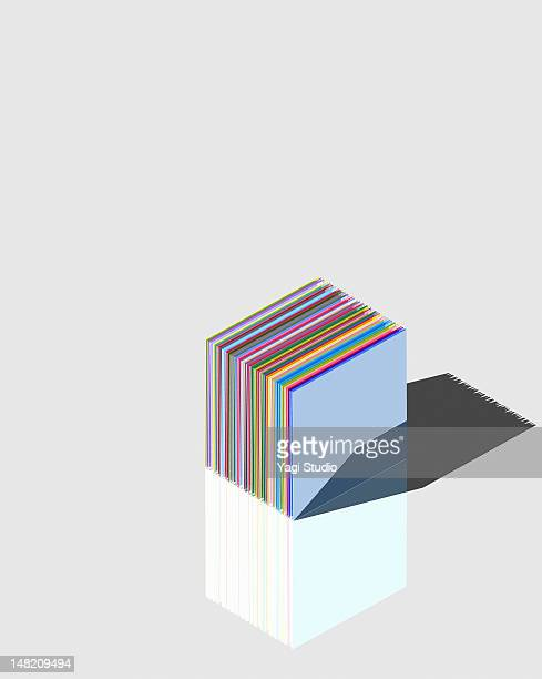 simple composition with colorful object - digital composite stock illustrations