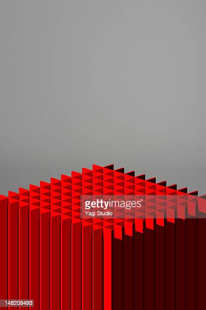 Simple composition with red object