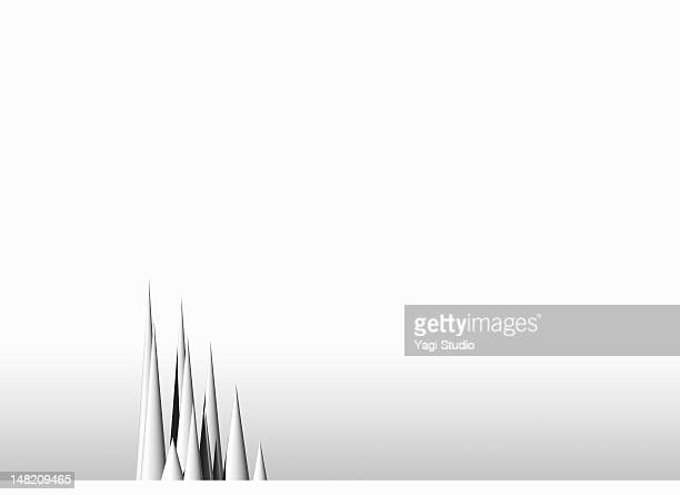 simple composition with white background - spire stock illustrations, clip art, cartoons, & icons