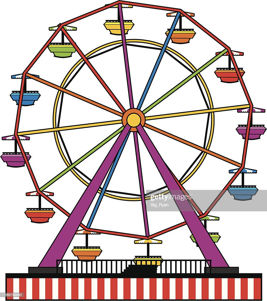simple ferris wheel vector art getty images