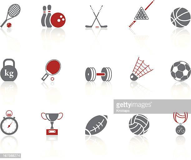 simple icons – sport - badminton racket stock illustrations, clip art, cartoons, & icons