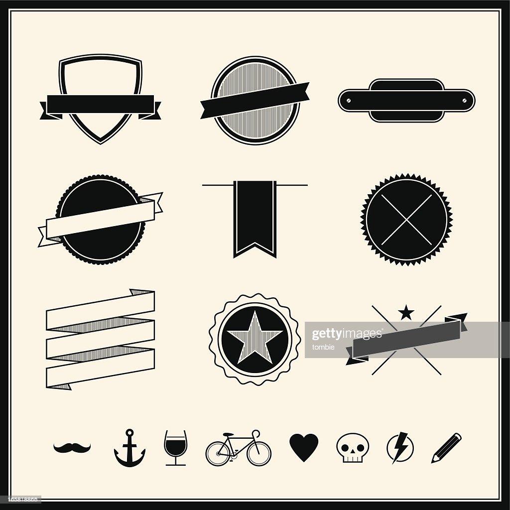 Simple Retro Design Elements