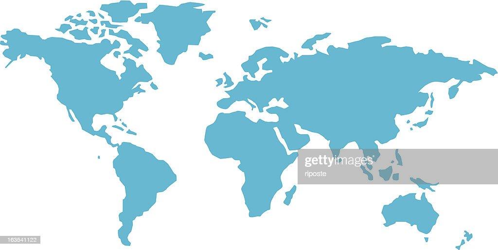 simple world map