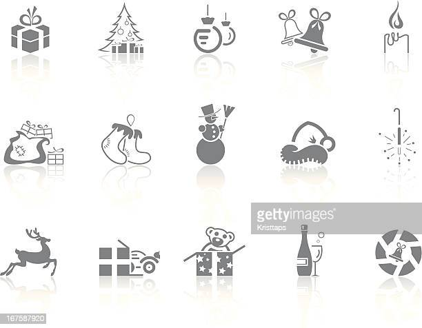 simplicity > christmas - goodie bag stock illustrations, clip art, cartoons, & icons