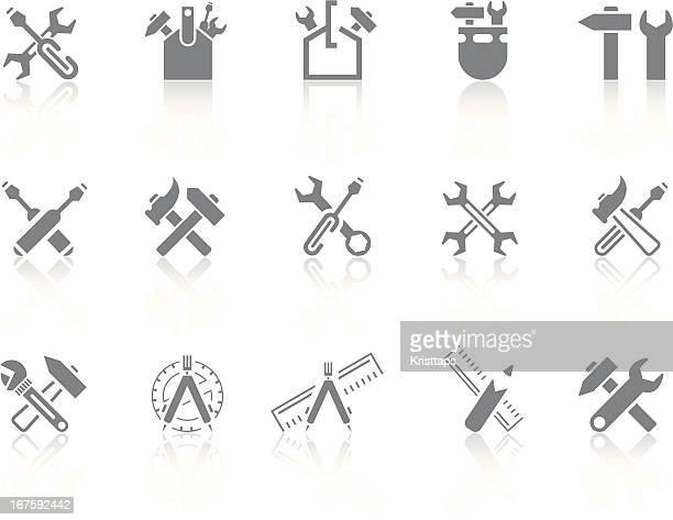 ilustraciones, imágenes clip art, dibujos animados e iconos de stock de simplicidad  >  herramientas - caja de herramientas