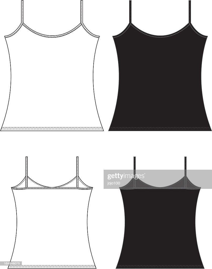 simply ladiesgirls vest top template vector art getty images