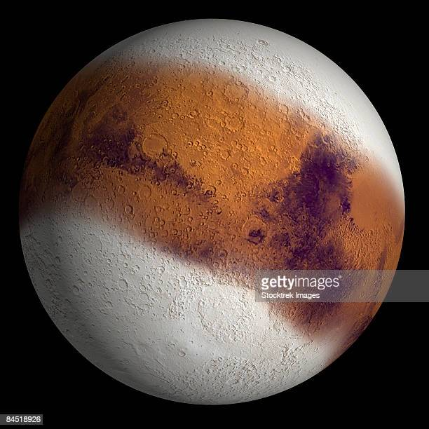 Simulated view of Mars.