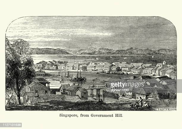 Singapore, from Government Hill, 19th Century