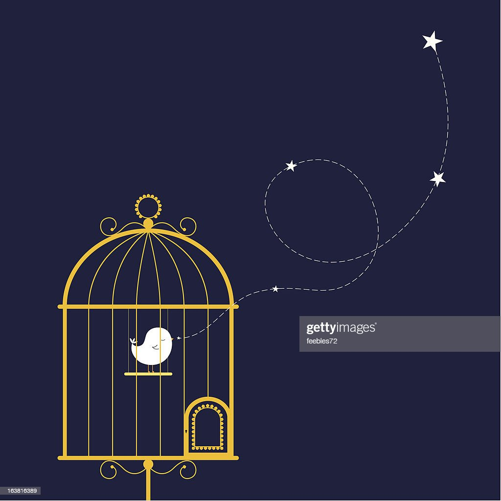 singing bird in gilded cage