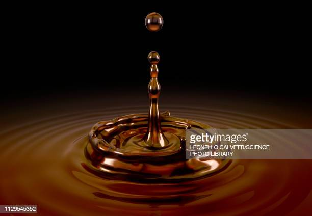 single liquid coffee drop splash, illustration - food and drink stock illustrations