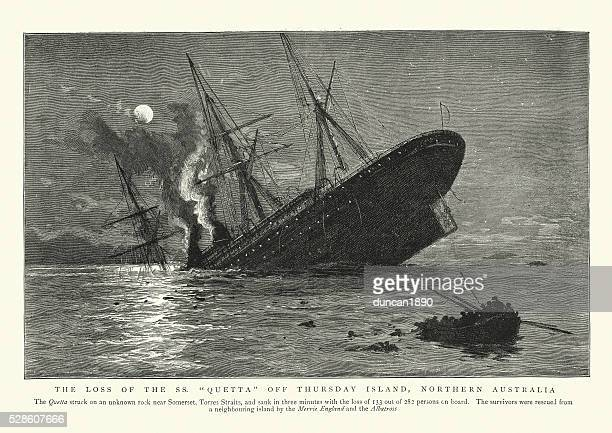 Sinking of the RMS Quetta, 1890