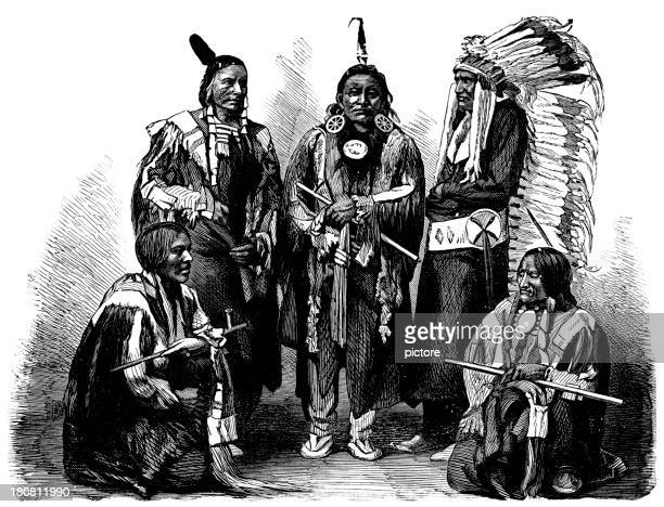 sioux - sioux culture stock illustrations