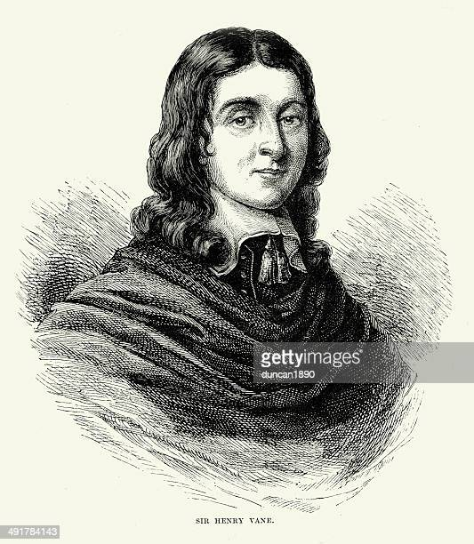 sir henry vane - governor stock illustrations, clip art, cartoons, & icons