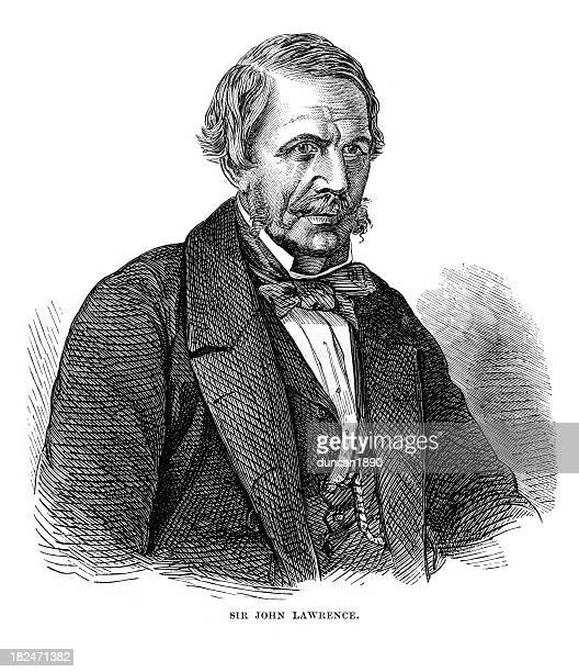 sir john lawrence - governor stock illustrations, clip art, cartoons, & icons