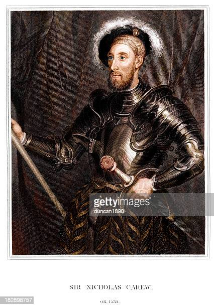 sir nicholas carew - renaissance stock illustrations