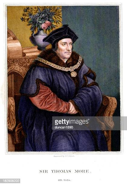 sir thomas more - renaissance stock illustrations