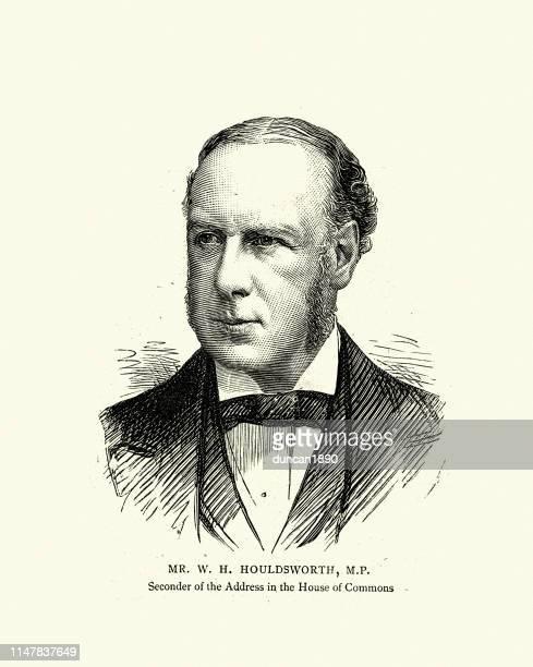 ilustrações, clipart, desenhos animados e ícones de sir william henry houldsworth, político britânico, século 19 - casual chic