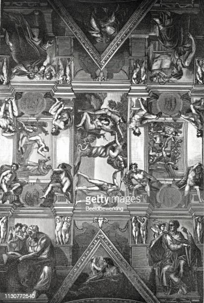 Sistine Chapel illustration 1873 'the Earth and her People'