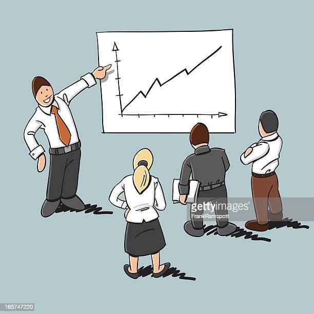 small group presentation cartoonのベクターイラストとグラフィック素材