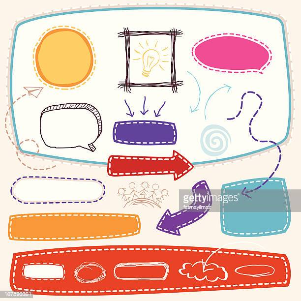 sketch design element - funky stock illustrations
