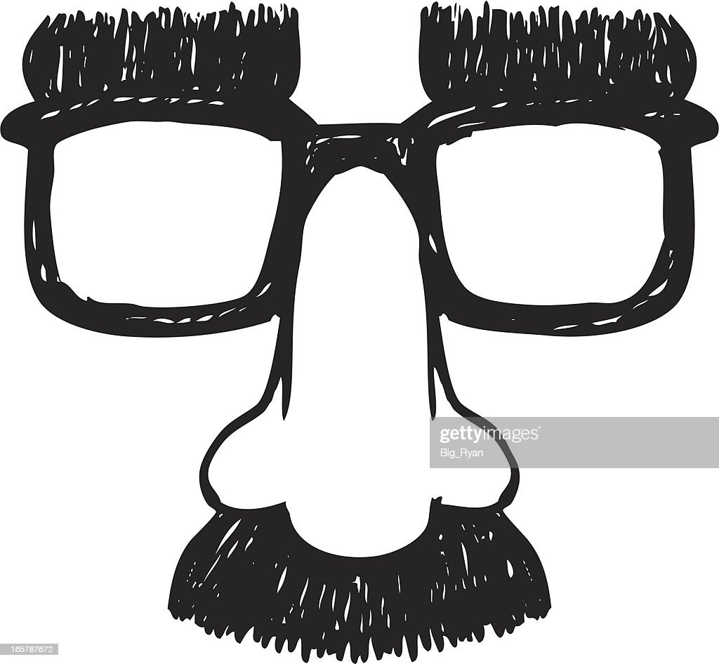 sketch disguise glasses