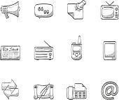 Sketch Icons - More Communication