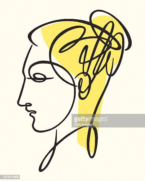sketch of woman - only women stock illustrations, clip art, cartoons, & icons