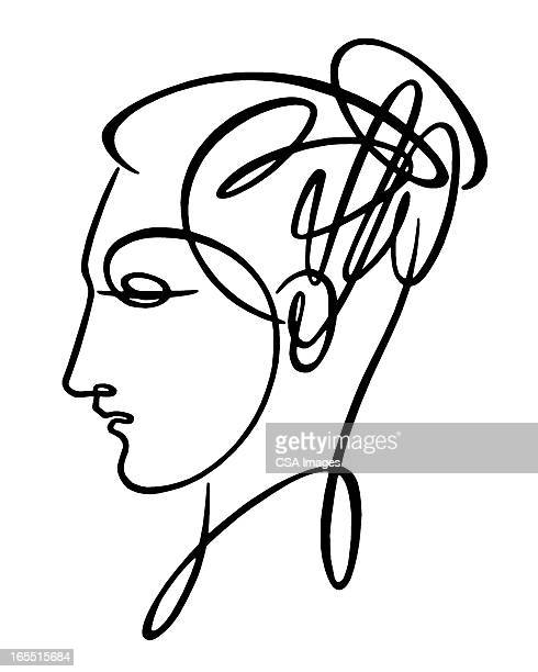 Sketch of Woman's Head