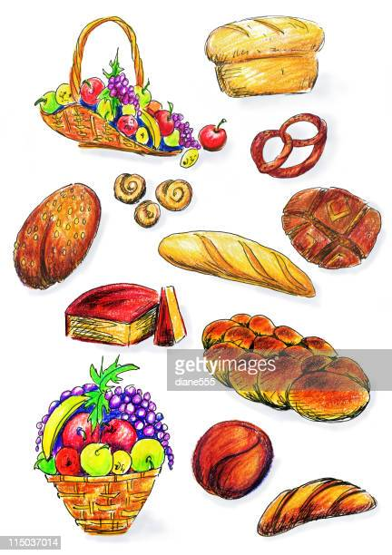 Fruit Bowl Stock Illustrations - Getty Images