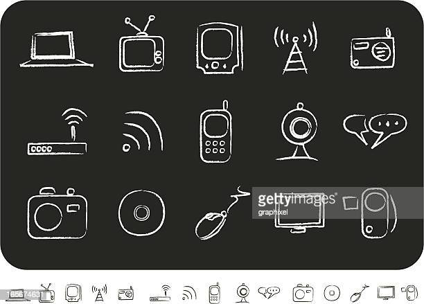 Sketched Media Icons