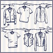 sketched men's wardrobe
