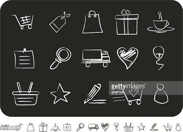 Sketched Shopping Icons