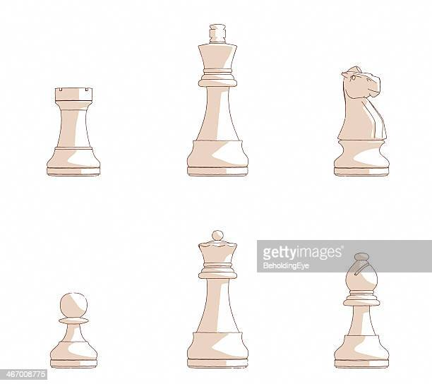 sketches of chess pieces - bishop clergy stock illustrations, clip art, cartoons, & icons