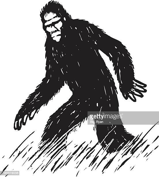 sketchy bigfoot - bigfoot stock illustrations