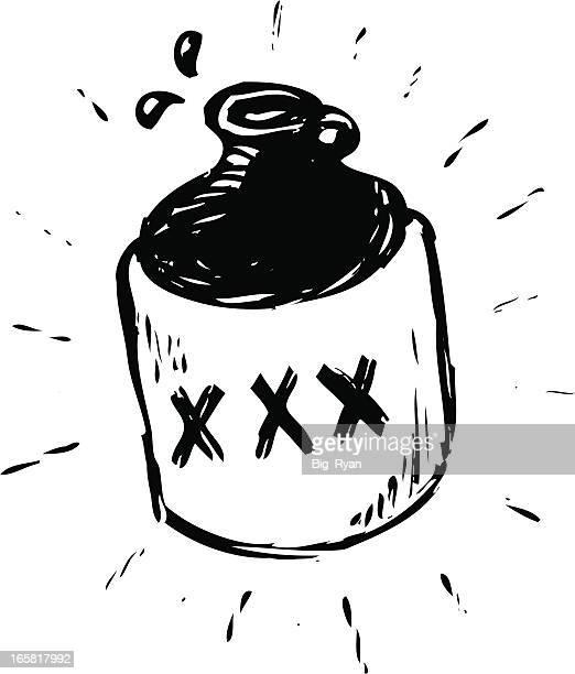 sketchy moonshine 水差し - 密造酒点のイラスト素材/クリップアート素材/マンガ素材/アイコン素材