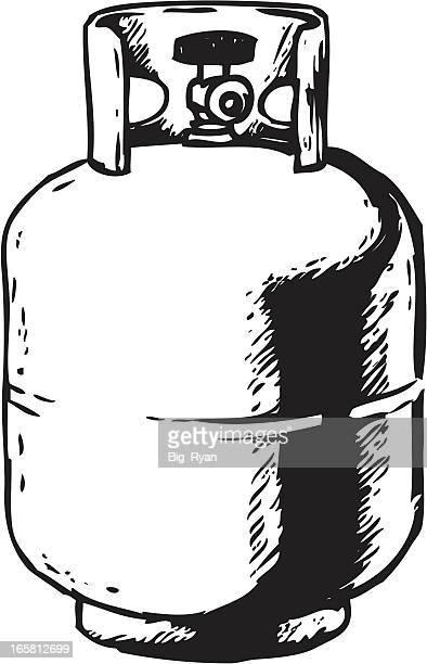 sketchy propane - tank stock illustrations, clip art, cartoons, & icons