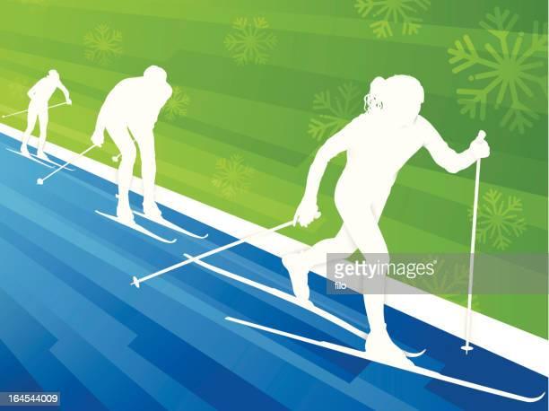 スキーの背景 - ノルディックスキー大会点のイラスト素材/クリップアート素材/マンガ素材/アイコン素材
