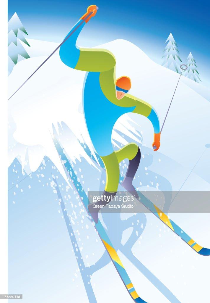 Skiing : Illustration