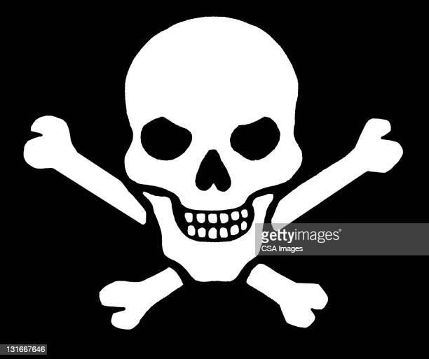 skull and crossbones - 海賊旗点のイラスト素材/クリップアート素材/マンガ素材/アイコン素材